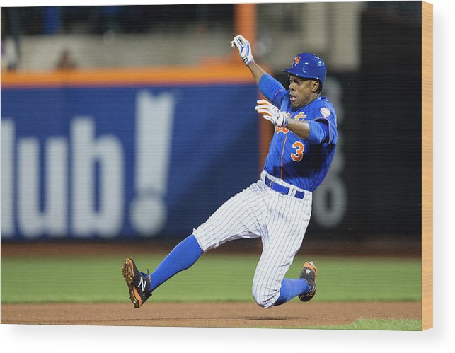 American League Baseball Wood Print featuring the photograph Curtis Granderson by Taylor Baucom