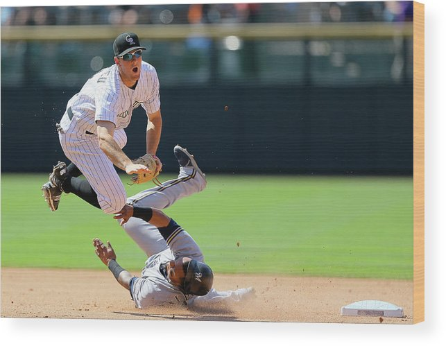 Double Play Wood Print featuring the photograph Dj Lemahieu by Justin Edmonds