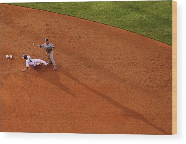 Double Play Wood Print featuring the photograph Everth Cabrera And Dj Lemahieu by Justin Edmonds