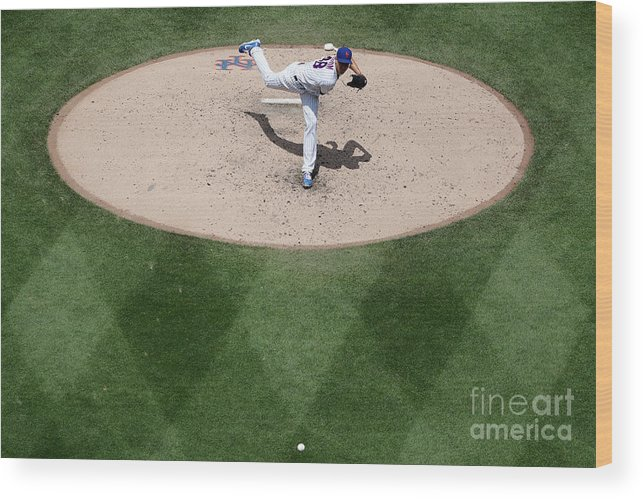Jacob Degrom Wood Print featuring the photograph Jacob Degrom by Michael Owens