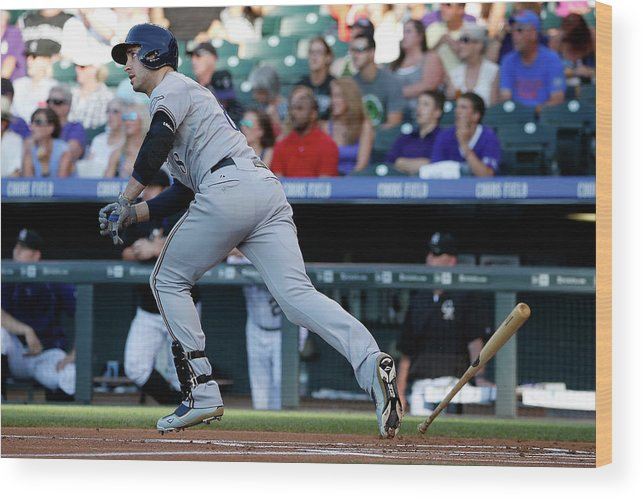 People Wood Print featuring the photograph Jorge De La Rosa And Ryan Braun by Doug Pensinger