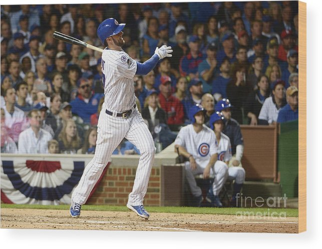 People Wood Print featuring the photograph Kris Bryant by David Banks