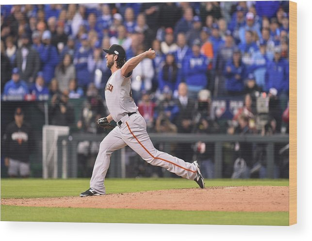 Playoffs Wood Print featuring the photograph Madison Bumgarner by Rob Tringali