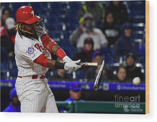 Three Quarter Length Wood Print featuring the photograph Maikel Franco by Corey Perrine