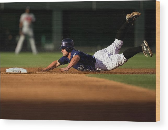 Second Inning Wood Print featuring the photograph Michael Mckenry by Justin Edmonds