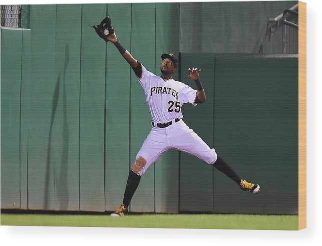 People Wood Print featuring the photograph Miguel Montero And Gregory Polanco by Joe Sargent