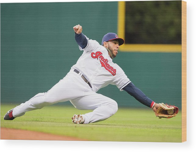 American League Baseball Wood Print featuring the photograph Mike Aviles by Jason Miller