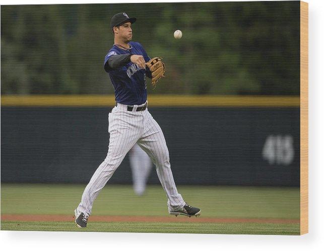 National League Baseball Wood Print featuring the photograph Nolan Arenado by Justin Edmonds