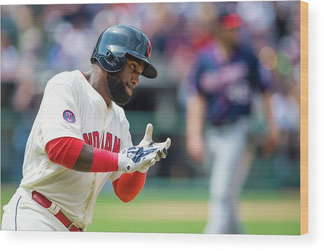 American League Baseball Wood Print featuring the photograph Phil Hughes And Abraham Almonte by Jason Miller