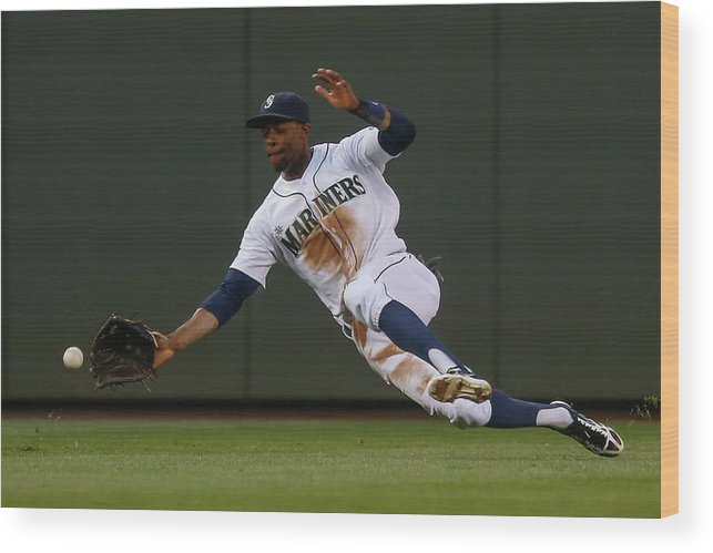 American League Baseball Wood Print featuring the photograph Raul Ibanez And James Jones by Otto Greule Jr