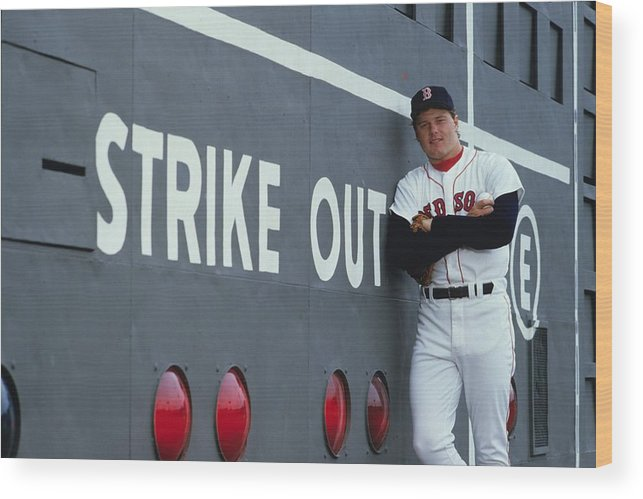 1980-1989 Wood Print featuring the photograph Roger Clemens by Ronald C. Modra/sports Imagery