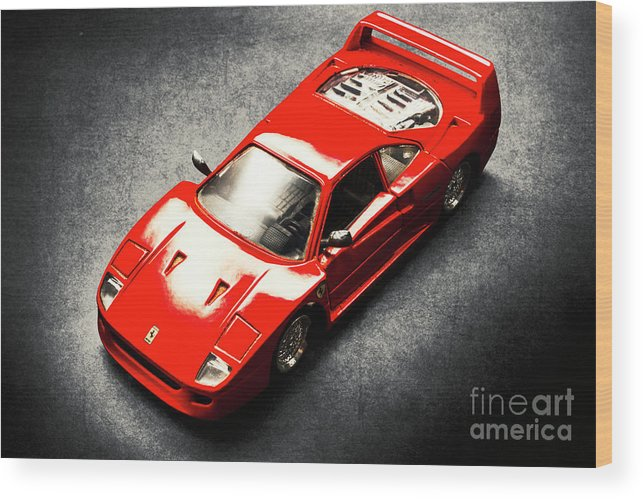Auto Wood Print featuring the photograph Shiny Classic by Jorgo Photography - Wall Art Gallery