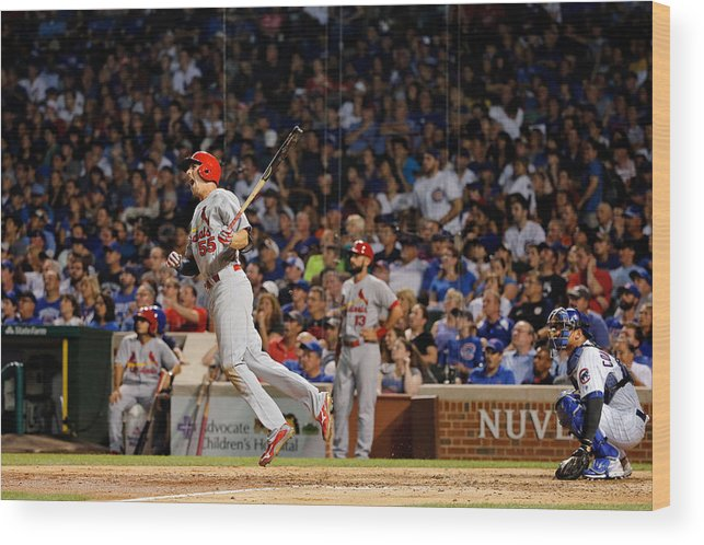 St. Louis Cardinals Wood Print featuring the photograph Stephen Piscotty by Jon Durr
