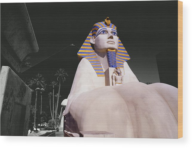 Photography Wood Print featuring the photograph Luxor Sphynx by Tom Fant