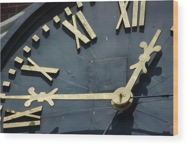 Clock Wood Print featuring the photograph About Time by Eric Workman