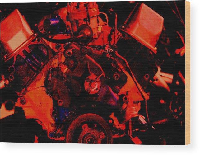 Engine Wood Print featuring the digital art Engine 2 by Lisa Johnston