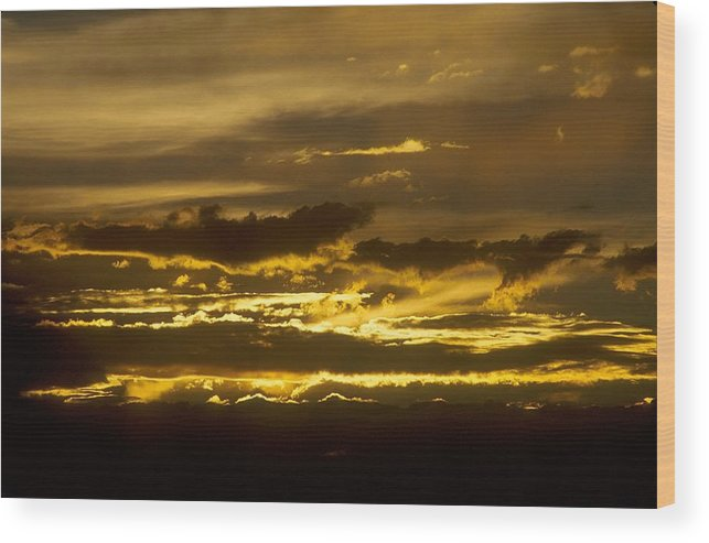 Clouds Wood Print featuring the photograph Fire In The Sky by Lynard Stroud