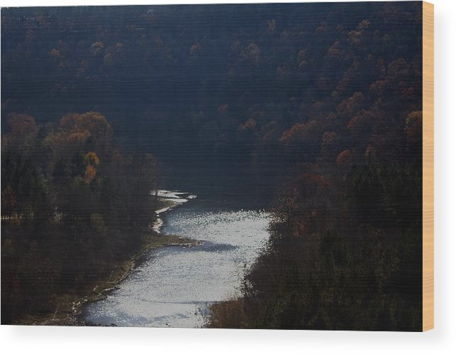 Landscape Wood Print featuring the photograph Little Red River by Lisa Johnston