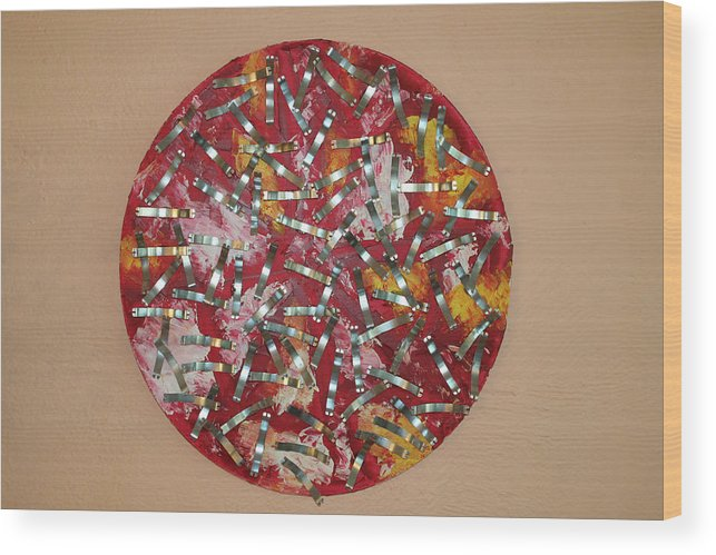 Wood Print featuring the painting Red And Metal by Biagio Civale