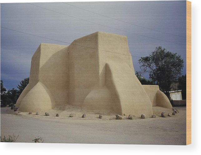 Church Wood Print featuring the photograph San Francisco De Taos by Lynard Stroud