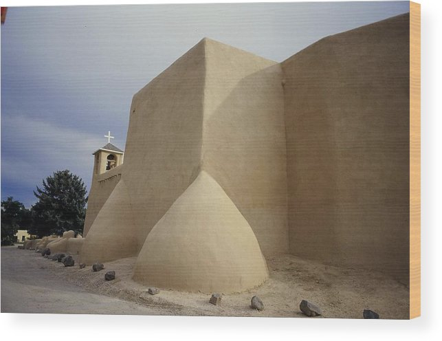 Church Wood Print featuring the photograph San Francisco De Taos Two by Lynard Stroud