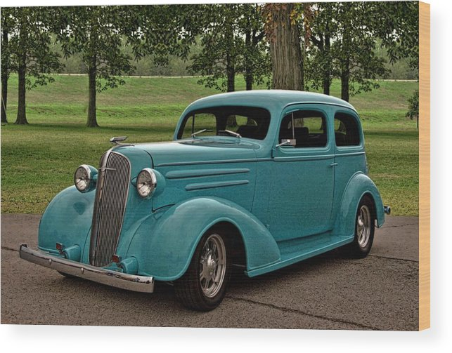 1936 Wood Print featuring the photograph 1936 Chevrolet Sedan Hot Rod by Tim McCullough