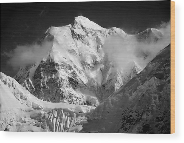 Mt. Hunter Wood Print featuring the photograph Mt. Hunter by Alasdair Turner