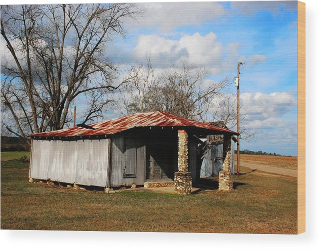 Houston County Wood Print featuring the photograph Old Store 04 by Andy Savelle
