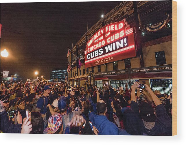 Playoffs Wood Print featuring the photograph 2016 World Series - Chicago Cubs V by Matt Kosterman