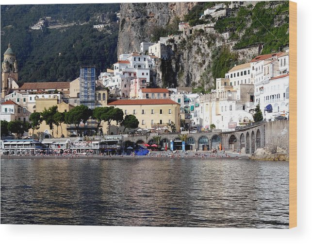 Amalfi Coast Wood Print featuring the photograph Views From The Amalfi Coast In Italy by Richard Rosenshein