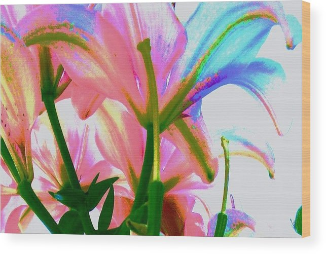 Floral Wood Print featuring the photograph Abstract Floral by Allen Meyer