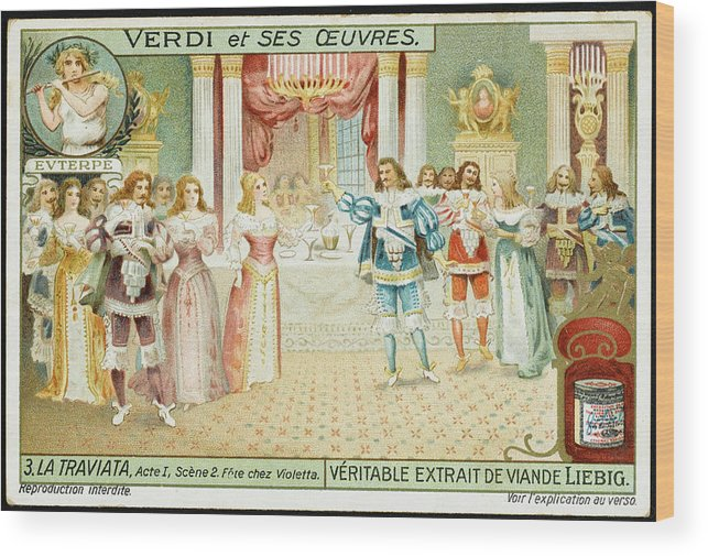 Traviata Wood Print featuring the drawing Act One Alfredo Meets Violetta by Mary Evans Picture Library