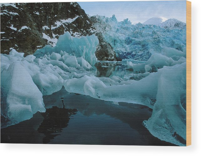 Alaska Wood Print featuring the photograph Alaska Iceberg by Peter Essick