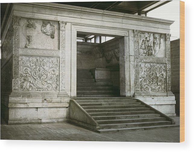 Horizontal Wood Print featuring the photograph Altar Of Peace Of Augustus. 13 Bc by Everett
