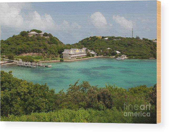 Antigua Wood Print featuring the photograph Antigua Long Bay by Luis Alvarenga