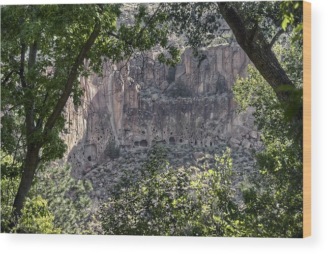 Bandelier Wood Print featuring the photograph Bandelier by Heath Yonaites
