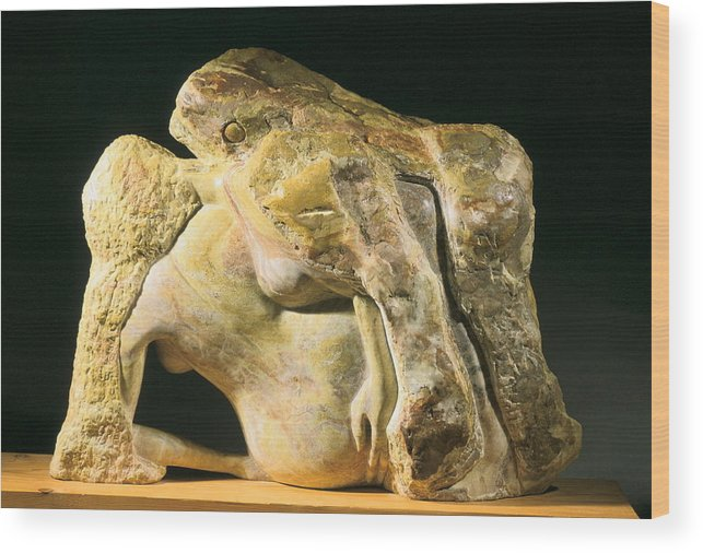 Sculpture Wood Print featuring the sculpture Birth Of The Universe by Manuel Abascal
