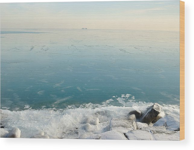 Lake Wood Print featuring the photograph Broken Ice by Jose Sandoval