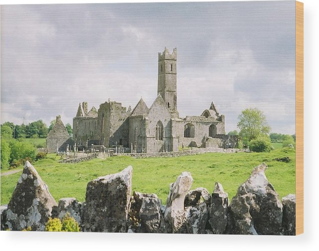 Ireland Abbey Ruins Wood Print featuring the photograph Cashel Abbey by Michael Cressy