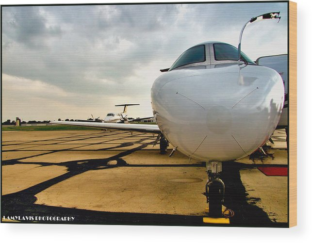 Wines And Wings2011 Wood Print featuring the photograph Citation Jet by Lamyl Hammoudi