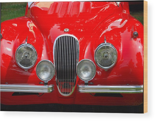 Automobiles Wood Print featuring the photograph Classic Nose by John Schneider