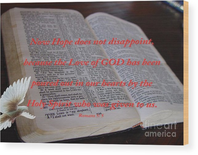 Gods Word Photograph Wood Print featuring the photograph Come Holy Spirit by Beverly Guilliams