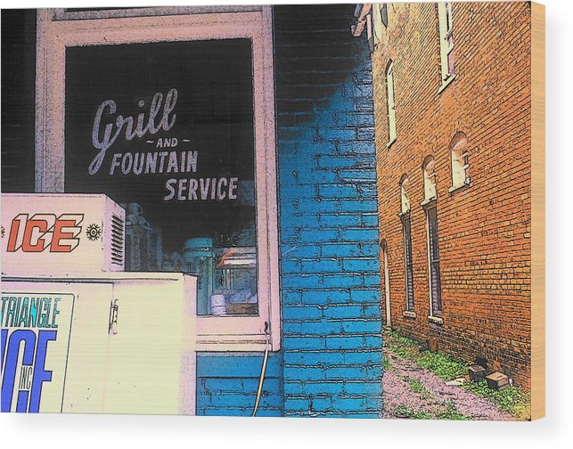 Fine Art Wood Print featuring the photograph Corner Of Store by Rodney Lee Williams