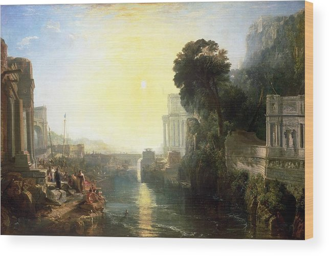 1815 Wood Print featuring the painting Dido Building Carthage by JMW Turner