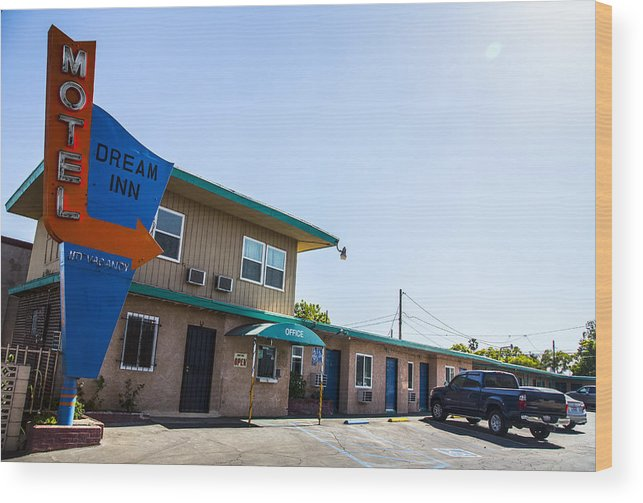 Route 66 Wood Print featuring the photograph Dream Inn 2 by Angus Hooper Iii