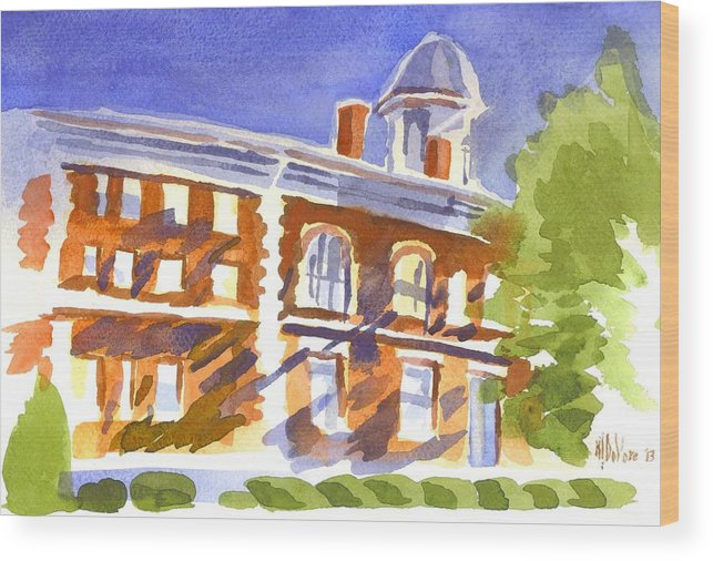 Electric Courthouse Wood Print featuring the painting Electric Courthouse by Kip DeVore