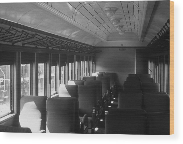 Railroad Wood Print featuring the photograph Empty Railway Coach by Rodney Lee Williams
