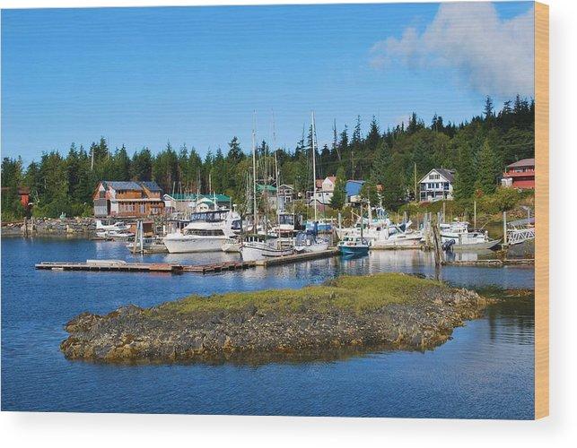 Boats Wood Print featuring the photograph Fishing Village Alaska by Richard Jenkins