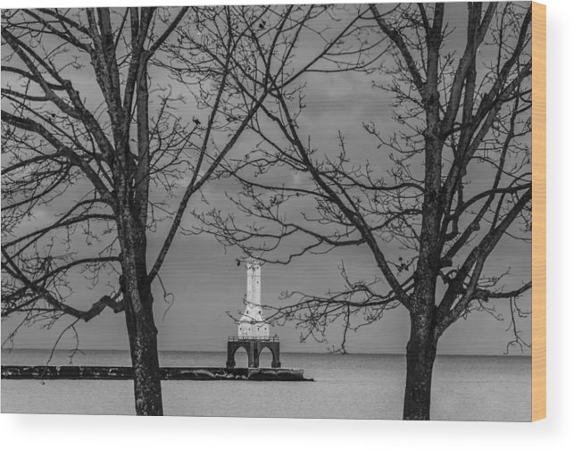 Lighthouse Wood Print featuring the photograph Framed by Anna-Lee Cappaert