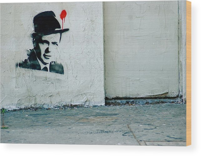 Street Art Wood Print featuring the photograph Frankie Bullets by Marc Levine